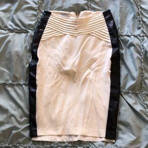 Soft white with black skirt